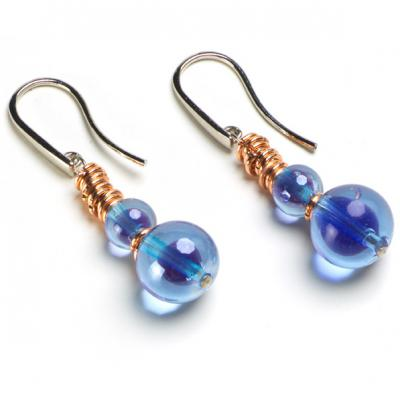 Jewelry Murano Earrings Dehli amethyst