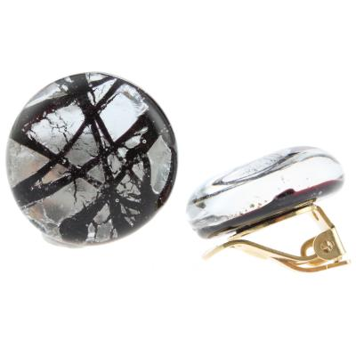 Jewelry Murano Earrings Aida silver black