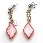 Earrings Avogaria red gold