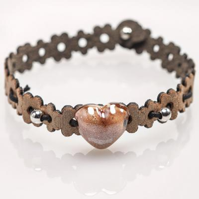 Jewelry Murano Bracelet Berry brown