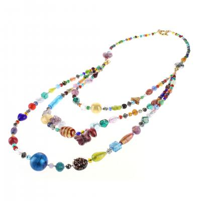 Bijou Murano Collier Brio multicolore or