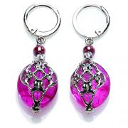 Earrings Florinda pink steel