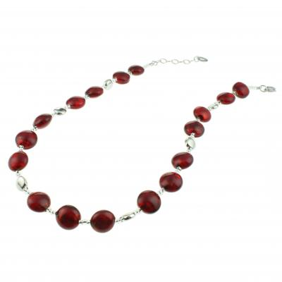 Jewelry Murano Necklace Frida red silver