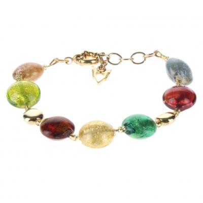 Jewelry Murano Bracelet Frida multicolor gold