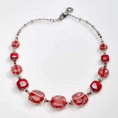 Jewelry Murano Necklace Graphic red