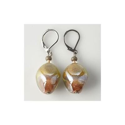 Jewelry Murano Earrings Labia amber lilas green