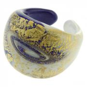Ring Laguna white blue gold size 59