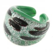 Jewelry Ring Laguna green silver  marron size 53/54