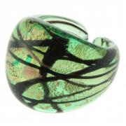 Ring Laguna green gold black size 58/59