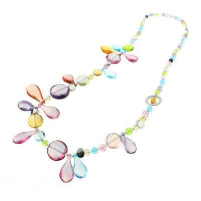 Jewelry Murano Long necklace Lapilli light blue