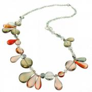 Jewelry Long necklace Lapilli goldange ambre