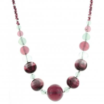 Jewelry Murano Necklace Madame amethyst