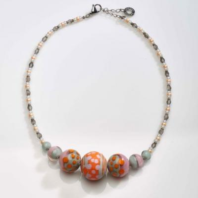 Jewelry Murano Necklace Papaya orange