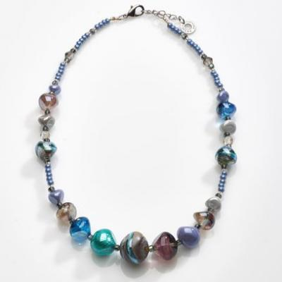 Jewelry Murano Necklace Valier blue