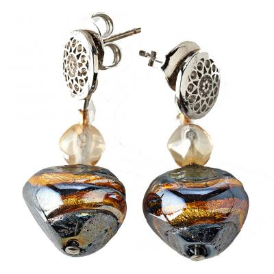 Jewelry Murano Earrings Valier amber
